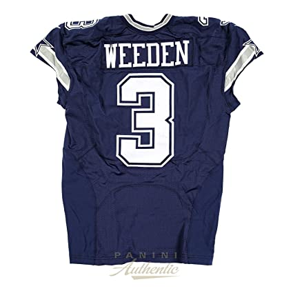 finest selection fa149 04deb Brandon Weeden Game Worn Dallas Cowboys Jersey From 10/4 ...