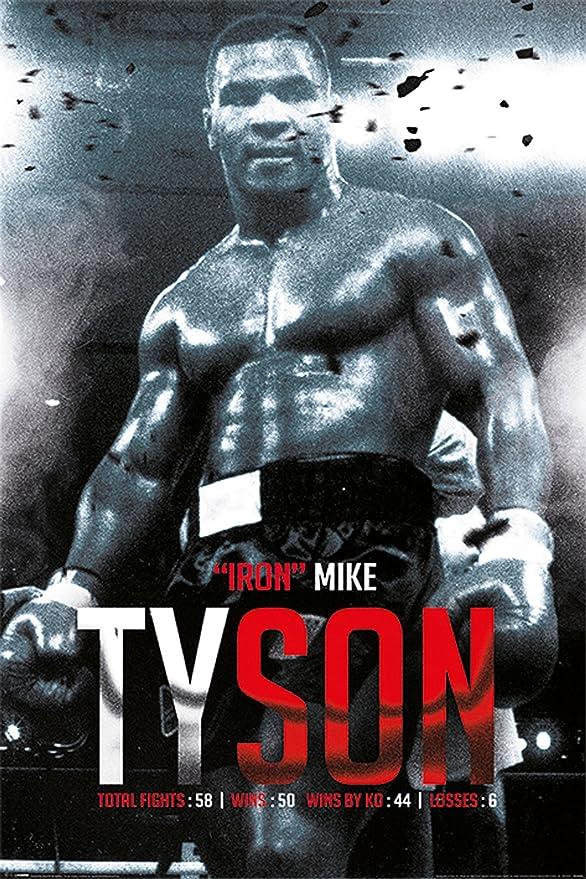 Mike Tyson - Boxing Record - Poster Plakat Druck - Größe 61x91,5 cm ...