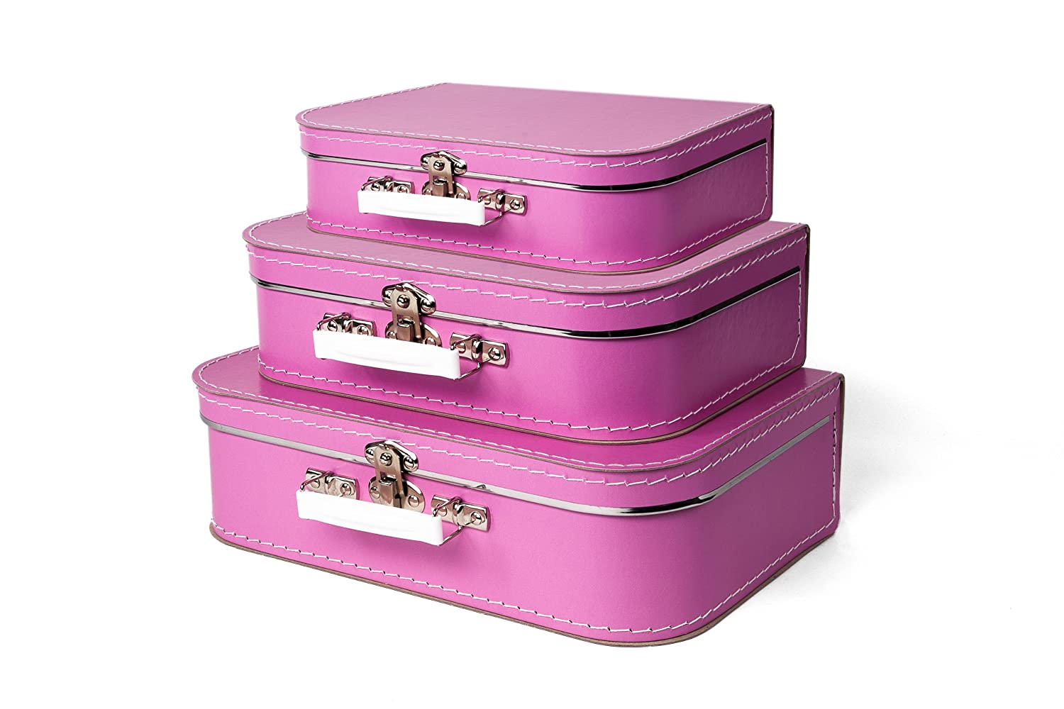 49df57a4157d Bigso Children's Suitcase, Pink, Set of 3
