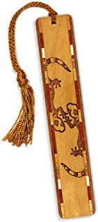 product image for Geckos Engraved Wooden Bookmark with Tassel