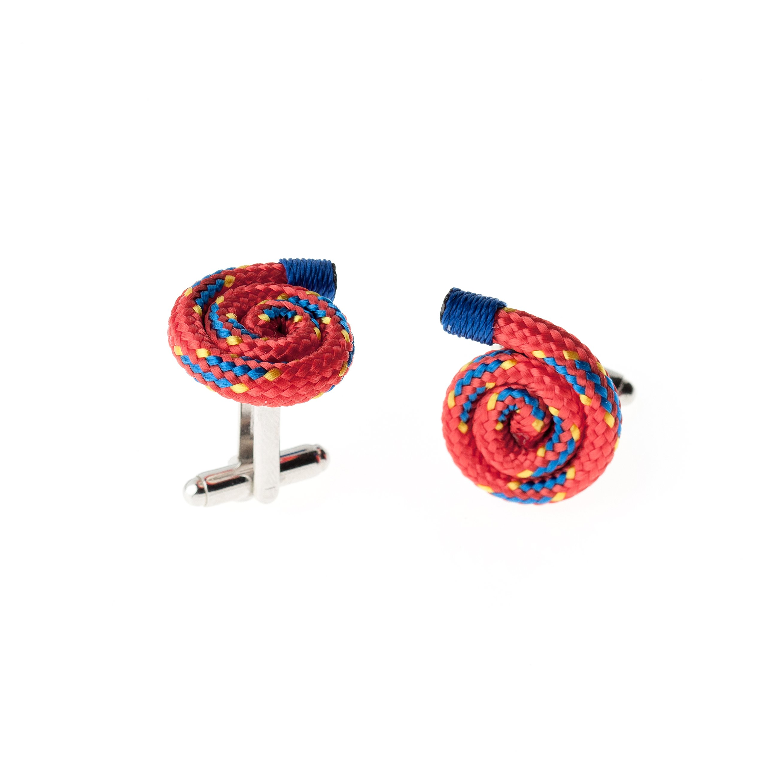 Red Designer Unique Stylish Handmade Rope String Cufflinks for Men