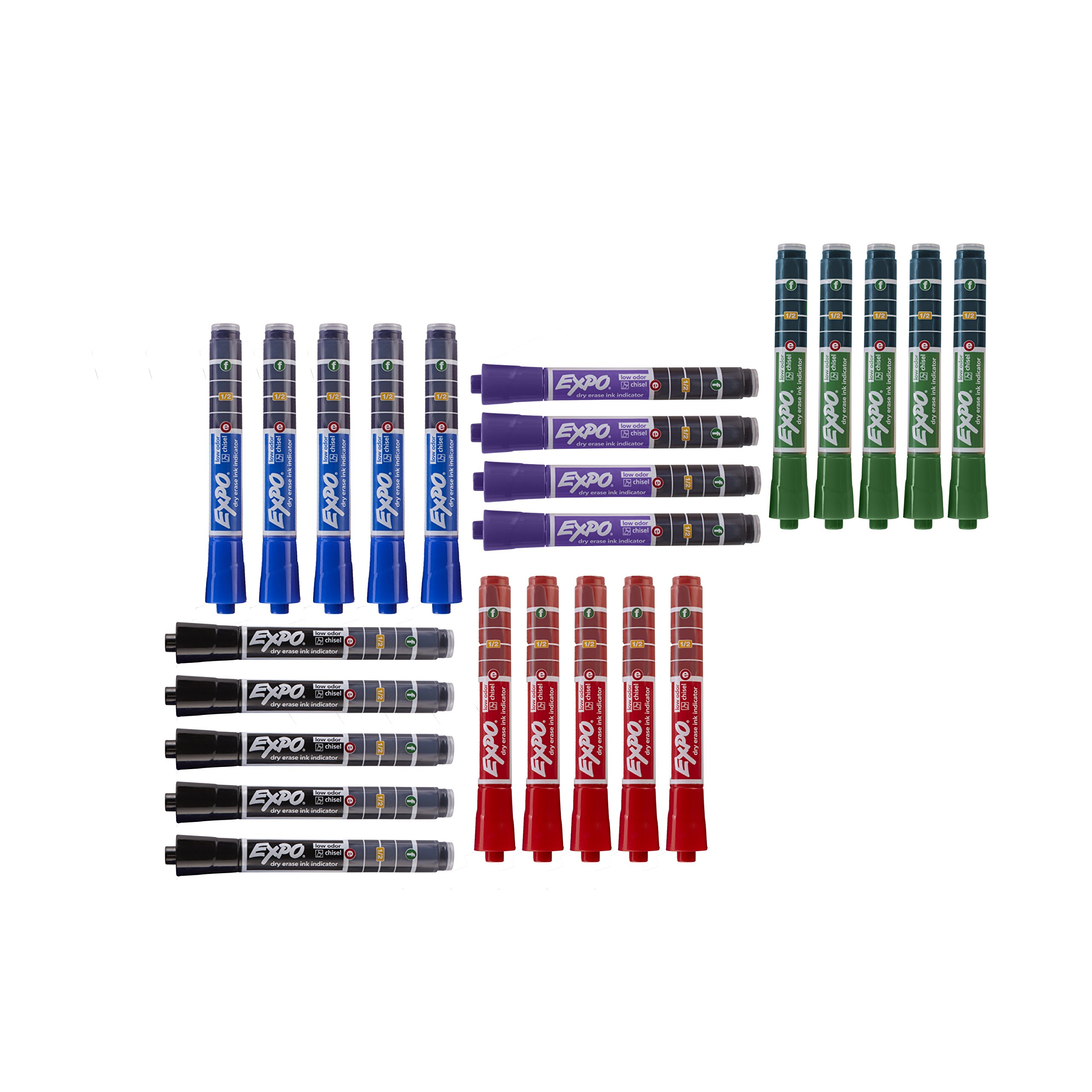 EXPO Dry Erase Markers with Ink Indicator, Chisel Tip, Assorted Colors, Box of 24 by Expo (Image #3)