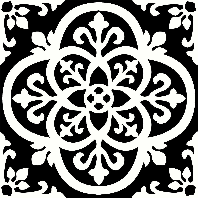 Azulejos g/óticos para suelos 10 unidades color negro WallPops FP2475