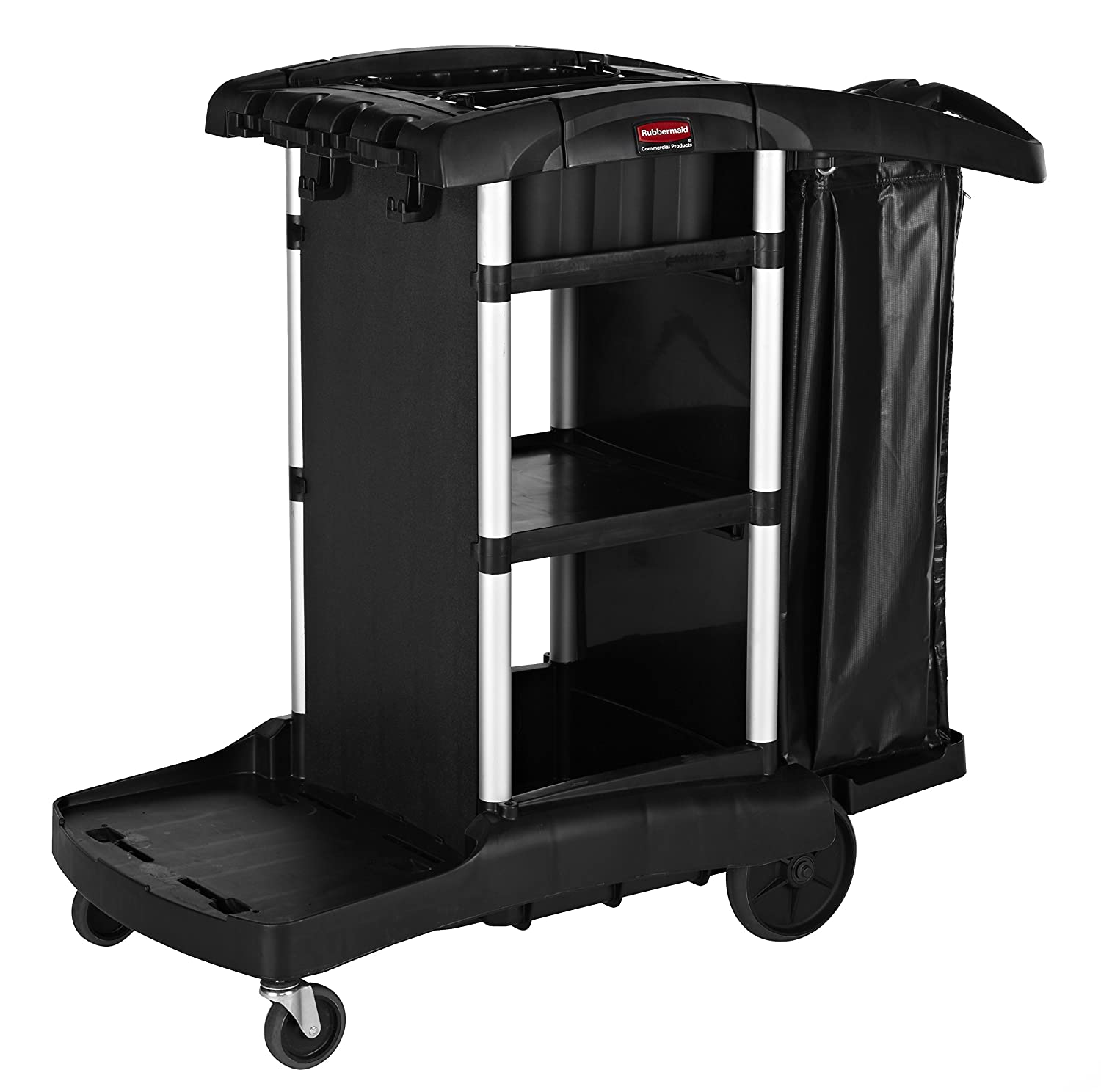 Rubbermaid Commercial Housekeeping Service Cart with 2 Caddies, Black,  1861429: Janitorial Carts: Amazon.com: Industrial & Scientific