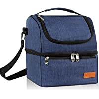 Leipple Lunch Bag for Women - Cooler Bag Tote Insulated Thermal Leakproof Lunch Box with Shoulder Strap Wide Opening for Office School Travel Picnic Camping