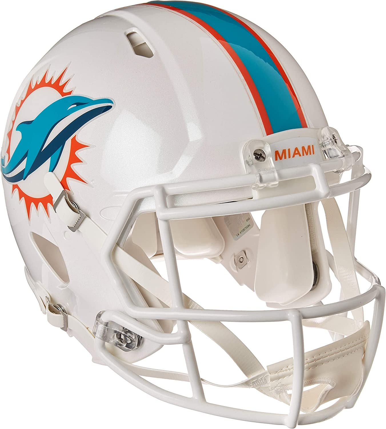 Riddell NFL Miami Dolphins Replica Full Size Speed Helmet Team Colors One Size