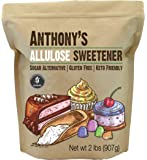 Anthony's Allulose Sweetener, 2 lb, Batch Tested Gluten Free, Keto Friendly Sugar Alternative, Zero Net Carb, Low…