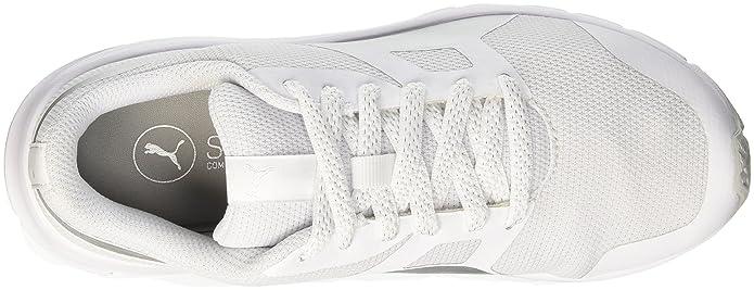 Puma Flexracer Gleam Wns, Sneaker Donna, BiancoArgento, 39