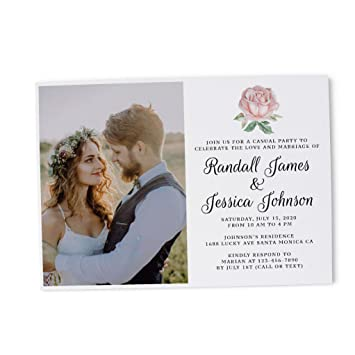Amazon Com Photo Elopement Reception Invitation Ideas Marriage