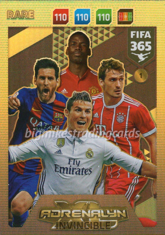 FIFA 365 2018 TARJETA INVENCIBLE # 1 * RARO, MESSI, RONALDO, etc. PANINI ADRENAYLN XL: Amazon.es: Juguetes y juegos
