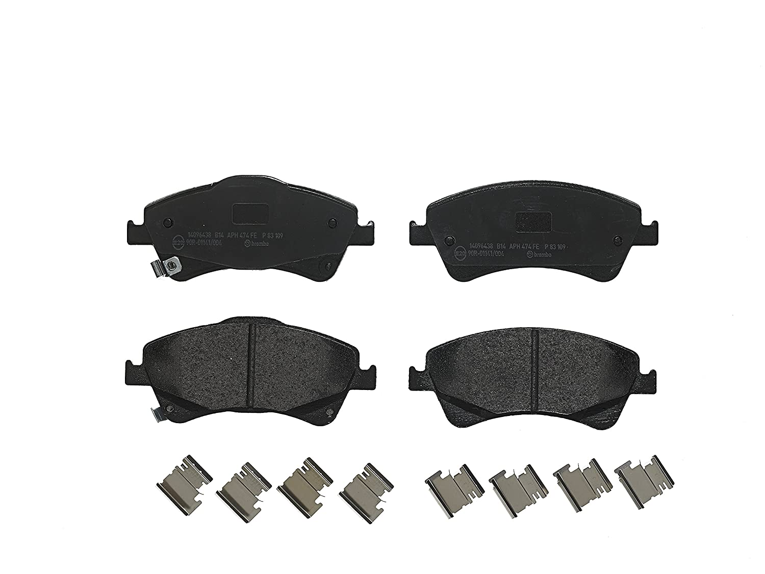 Set of 4 Brembo P83109 Front Disc Brake Pad