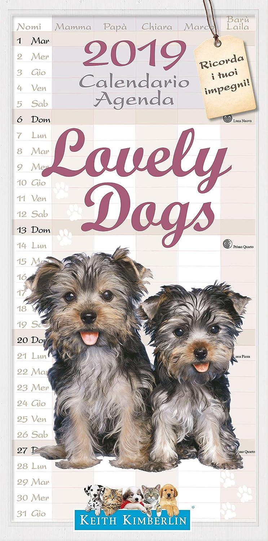 Calendario Agenda 2019 - Cuccioli Di Cani - Lovely Dogs (22x44) Euro Publishing