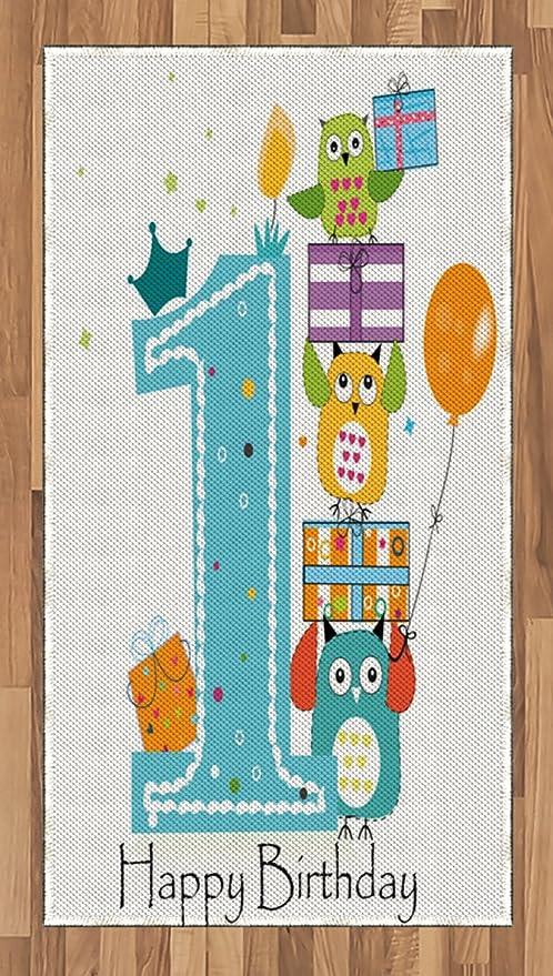 Alfombra de primer cumpleaños de Ambesonne, primer pastel ...