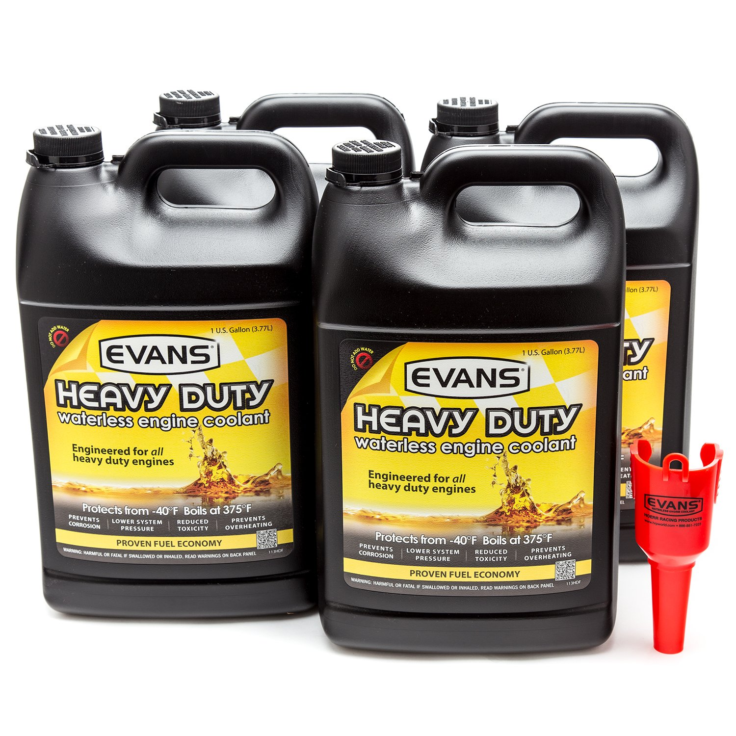 Evans Coolant EC61001 Heavy Duty Waterless Coolant, 4 Gallon Pack with Funnel
