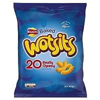 Walkers Wotsits Cheese Snacks, 16.5 g, Pack of 20