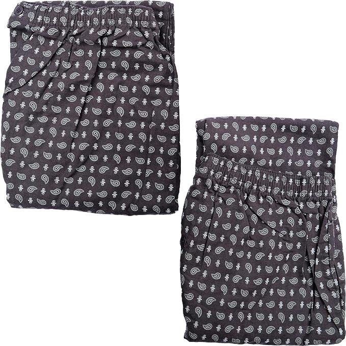 SaneShoppe - Pantalones de pijama para hombre, 100% franela de ...