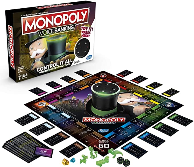 Amazon.com: Monopoly Voice Banking Board Game The Fast ...