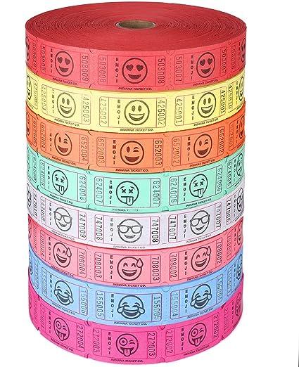 amazon com bundle of 4 rolls raffle roll of 2 000 consecutively