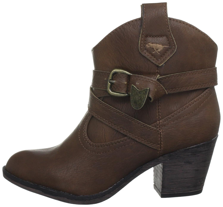 d0c499f82d3 Rocket Dog Women's Satire Western Cowboy Style Ankle Boots Cuban Heel -  Red, Black, Burgundy UK4 - EU37 - US6 - AU5 Tan