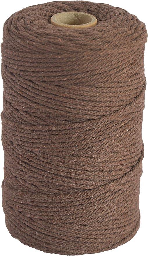 Pink Kordel f/ür Makramee 3 mm x 200 m aus Baumwolle Baumwollschnur Baumwollkordel Baumwollgarn Lilly Arts