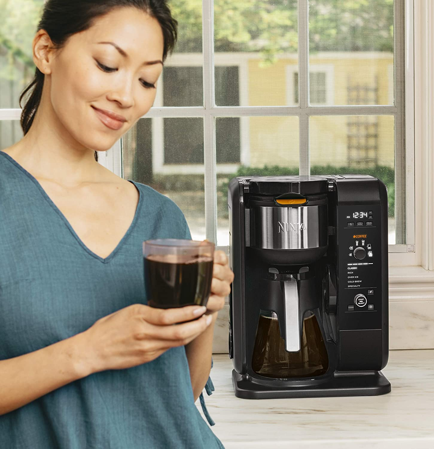 Ninja Hot And Cold Brewed System Auto iQ Tea And Coffee ...