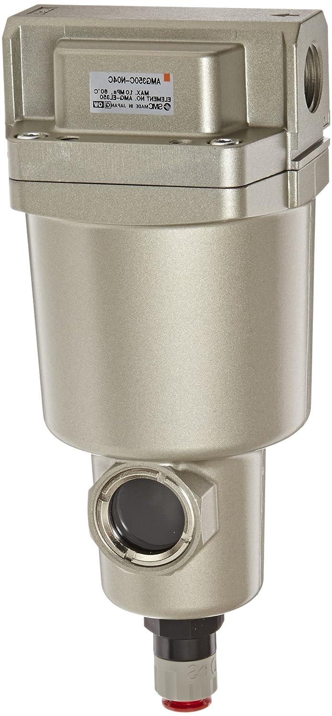 1,500 L//min 1//2 NPT SMC AMG350C-N04 Water Separator Manual Drain