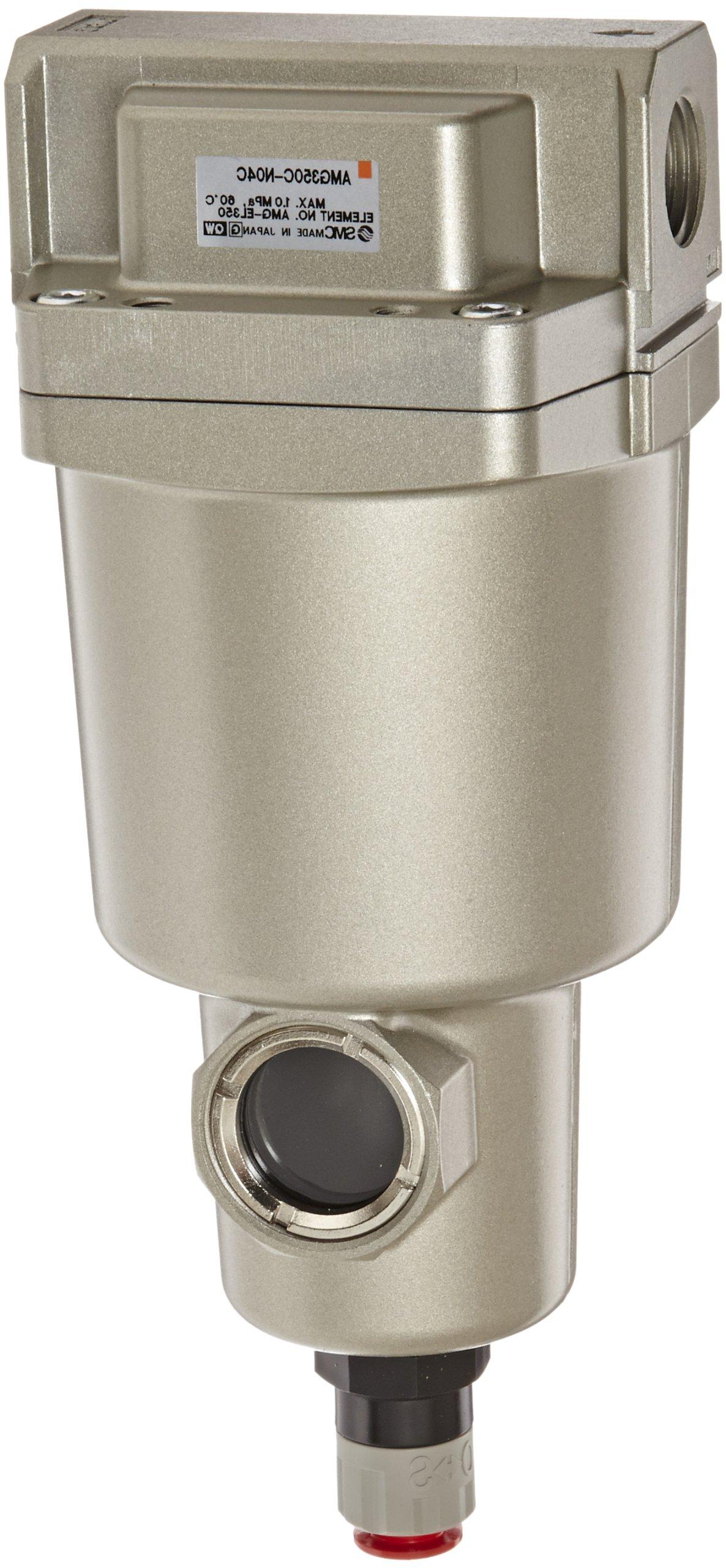 SMC AMG350C-N04C Water Separator, N.C. Auto Drain, 1,500 L/min, 1/2'' NPT by SMC