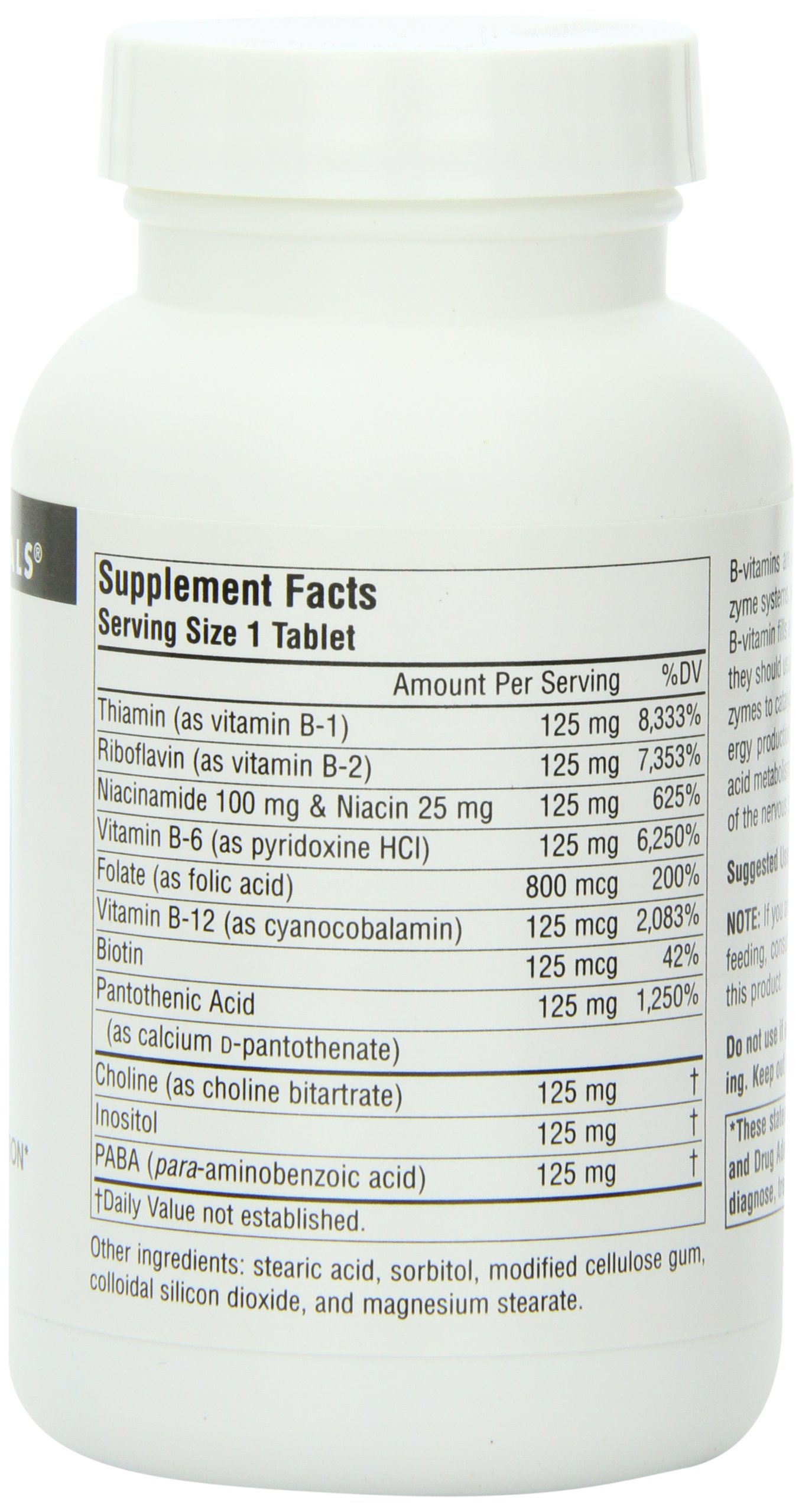 Source Naturals Vitamin B-125 Complex 125mg, Important For The Normal Functioning Of The Nervous System, 60 Tablets