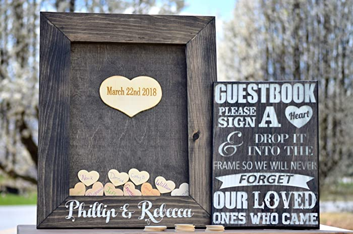 Amazoncom Wedding Guest Book Drop Box Guest Book Frame Wedding