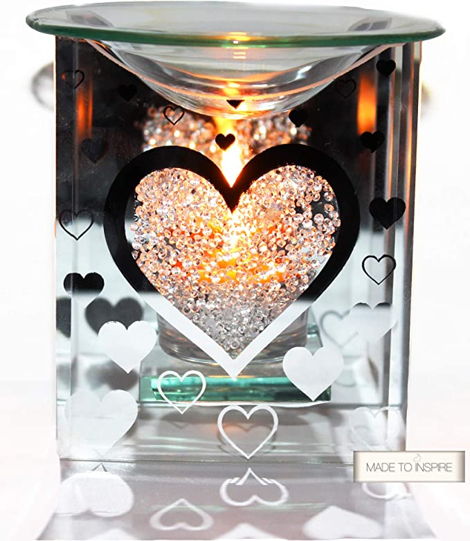 100hr BALINESE YLANG YLANG Huge Love Heart CANDLE MELT for Oil Burner SCENT GIFT