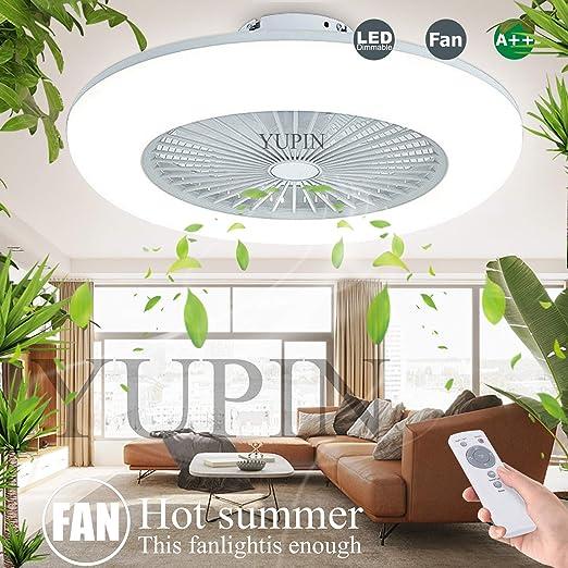 Ventilador De Techo Con Iluminación Ventilador Con Luz LED Lámpara ...