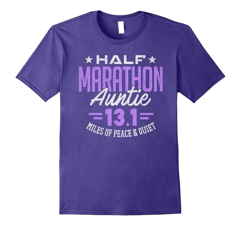 13.1 Shirt Half Marathon Auntie Runner Aunt Gift T-Shirt-FL