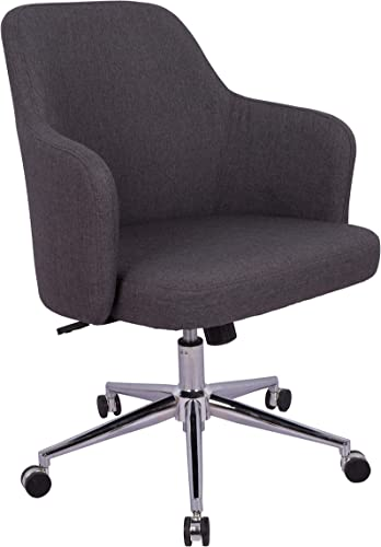 AmazonBasics Classic Adjustable Office Desk Chair – Twill Fabric, Charcoal, BIFMA Certified