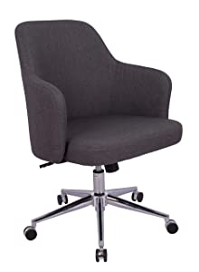 AmazonBasics Classic Adjustable Office Desk Chair - Twill Fabric, Charcoal