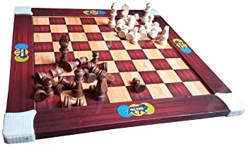 Jaykal Wooden Chess and Ludo Board Game (2 in 1 Game)
