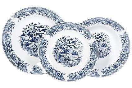 Piatti old england blu 18 pezzi porcellana