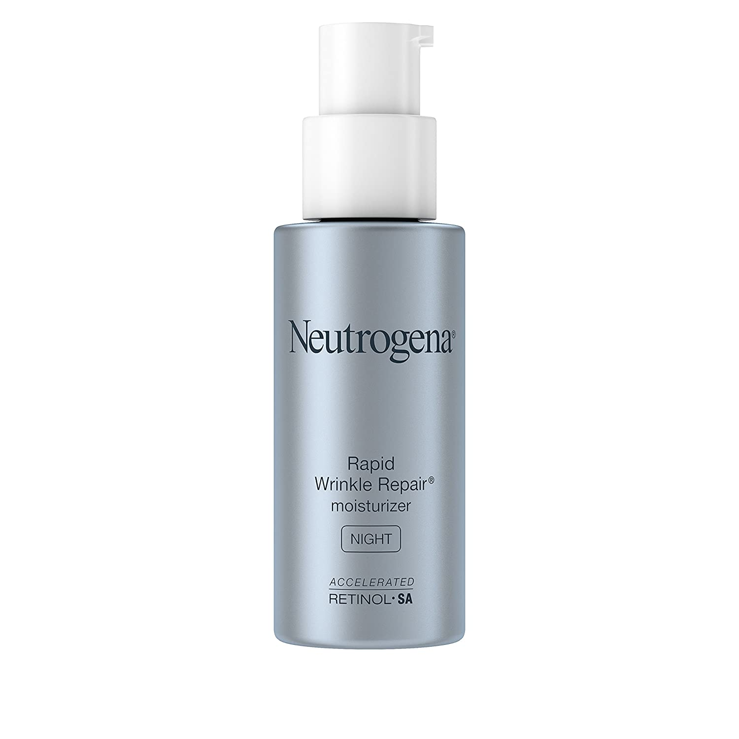 Neutrogena Rapid Wrinkle Repair Retinol Anti-Wrinkle Night Cream, Anti-Wrinkle Face & Neck Cream Moisturizer with Hyaluronic Acid, Retinol & Glycerin, 1 fl. oz