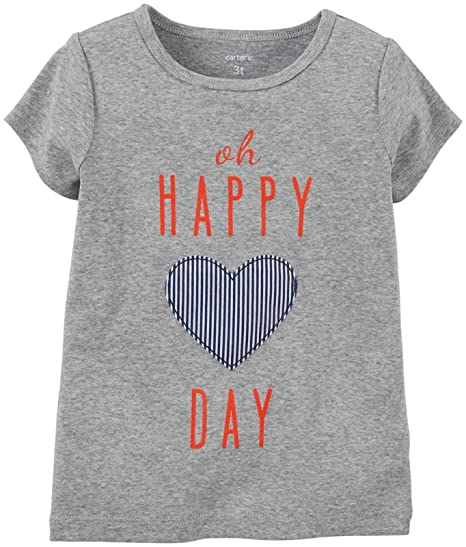 e93a6ff72 Amazon.com: Carter's Baby Girls' Graphic Tee (Baby): Clothing