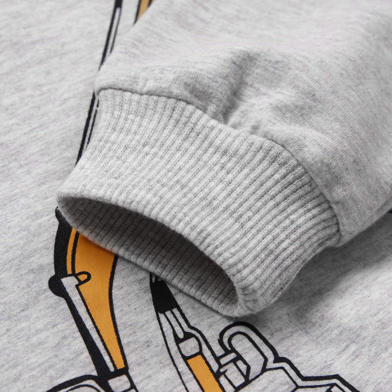 Boys Cartoon Sweatshirts Long Sleeve Crewneck Pullover Toddler Kids Winter Warm Shirt 3t-8t: Clothing