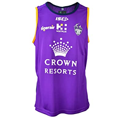 9fc046c4cf5 Isc Melbourne Storm NRL 2018 Players Rugby Training Singlet - Purple Navy -  Size XXL  Amazon.co.uk  Clothing