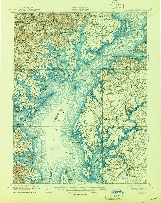 Amazon Com Yellowmaps Tolchester Md Topo Map 1 125000 Scale 30 X