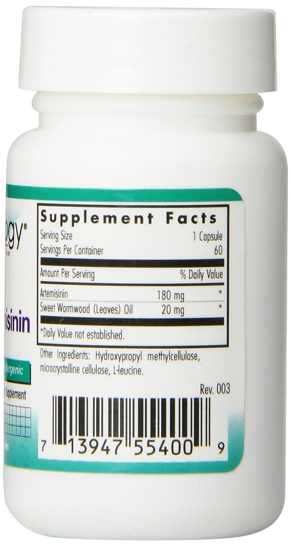 Nutricology Super Artemisinin, Vegicaps 60 Vegicaps: Amazon.es: Salud y cuidado personal