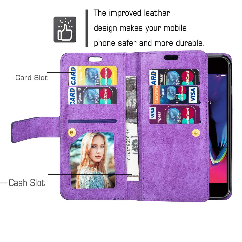 Hnzxy Kompatibel mit Huawei Mate 20 Lite H/ülle,PU Leder Tasche Flip Case Cover Handyh/ülle Rei/ßverschluss Geldb/örse mit 9 Kartenf/ächer Lederh/ülle Magnet Handy Schutzh/ülle Klapph/ülle,Blau