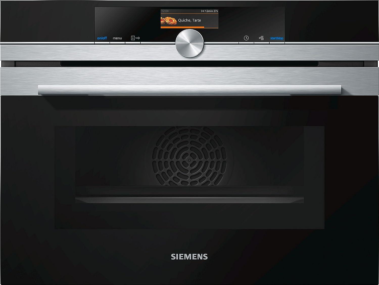 Siemens CM656GBS1 four - fours (Intégré, Electrique, Noir, Acier inoxydable, Rotatif, toucher, Devant, Électronique)