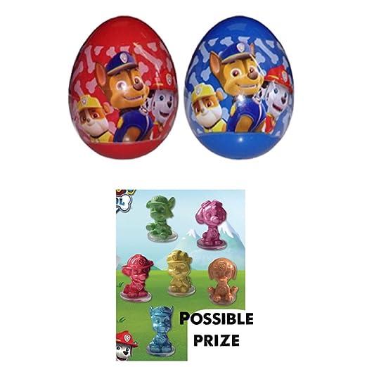 Amazon.com: 3 Paw patrol plastic surprise eggs with 2 single figures.: Toys & Games