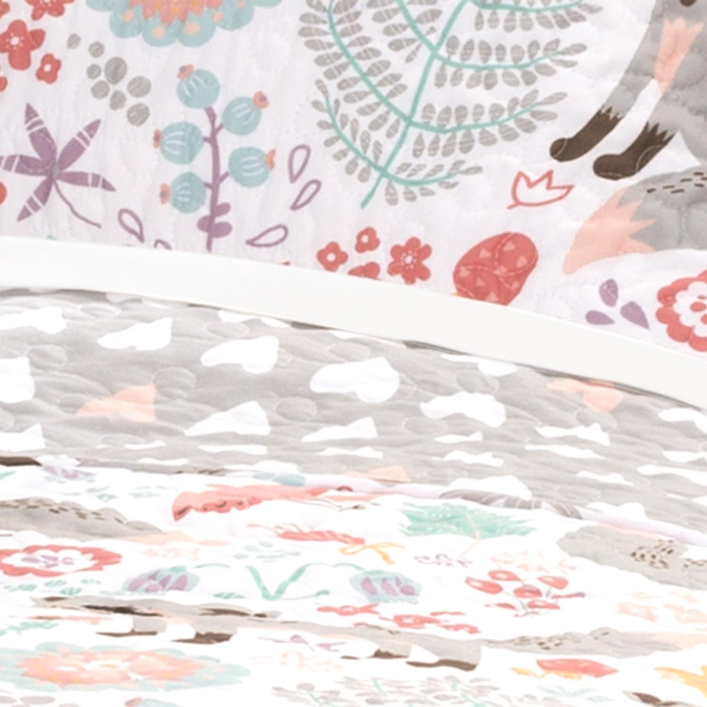 Navy Lush Decor Pixie Fox 4 Piece Quilt Set Full//Queen