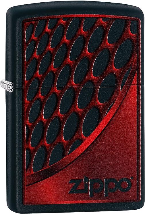 Zippo 60003392 - Mechero (5,8 x 3,8 x 1,8 cm), Color Rojo y Plateado: Amazon.es: Hogar
