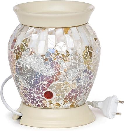 Keramik Yankee Candle Glitter Glow elektrische Duftlampe 12.5 x 10 x 10 cm hellblau//wei/ß