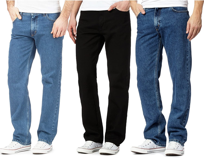 Plain Denim Wash Stretch Fit Boys Regular Straight Leg Inspire Me Mens Straight Leg Heavy Duty Jeans 100/% Cotton Jeans