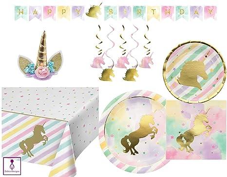 Amazon com: Sparkle Unicorn Party Supplies Set & Party Decorations